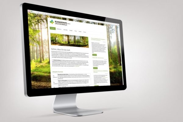 Klimainitiative responsive Website