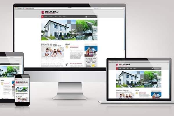 DELTA-BAU Responsive Website