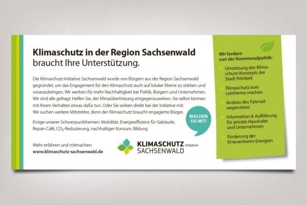 Postkarte für die Klimainitiative Reinbek
